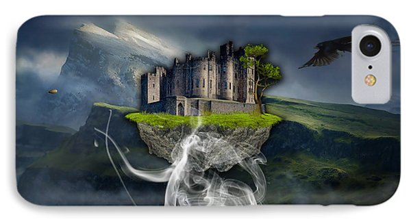 Castle In The Sky Art Phone Case by Marvin Blaine