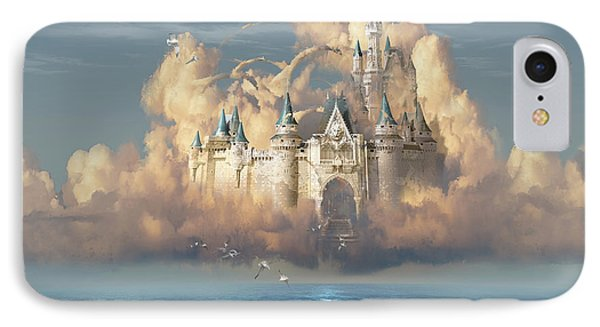 Castle In The Sky IPhone Case by George Grie