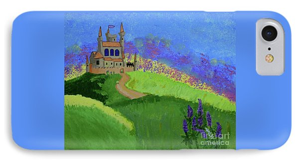 IPhone Case featuring the painting Castle In The Sky by Johanne Peale