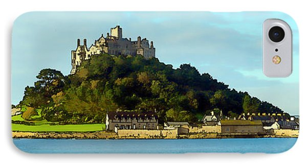 Castle On An Island St Michaels Mount Marazion Cornwall England Uk Medieval IPhone Case