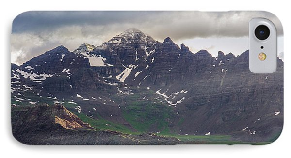 IPhone 7 Case featuring the photograph Castle Peak by Aaron Spong