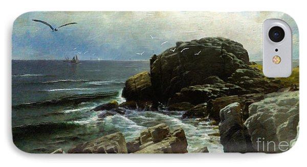 IPhone Case featuring the digital art Castle Rock - Marblehead by Lianne Schneider
