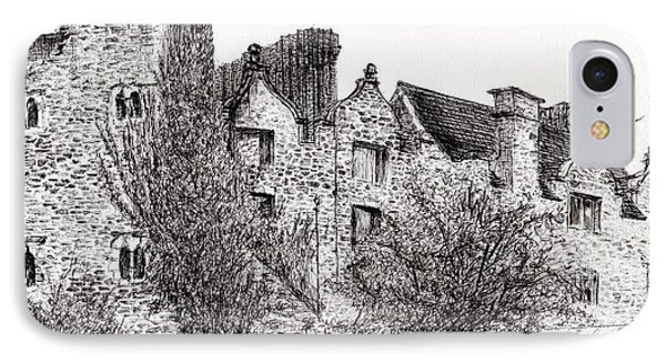 Castle Ruins At Hay On Wye IPhone Case by Vincent Alexander Booth