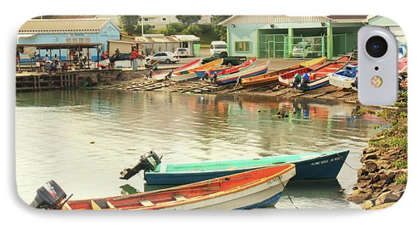 Castries Harbor Waterfront IPhone Case by Roupen  Baker