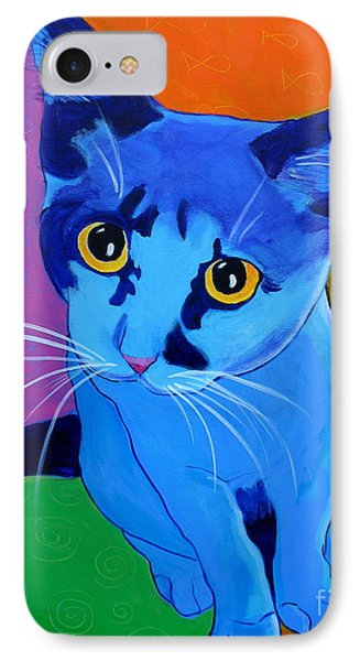Cat - Kitten Blue IPhone Case by Alicia VanNoy Call