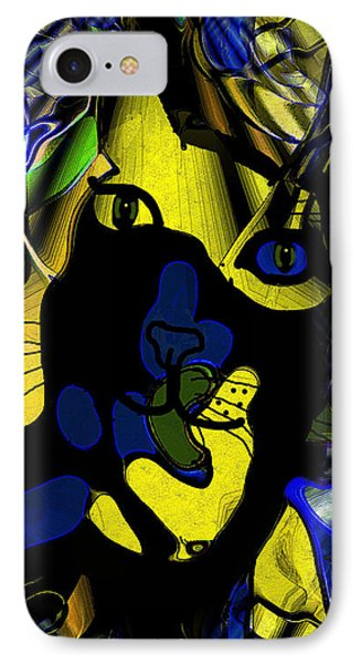 Cat Abstract IPhone Case by Natalie Holland