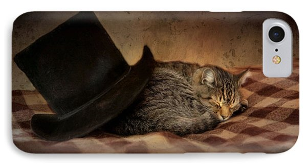 IPhone Case featuring the photograph Cat And The Hat by Robin-Lee Vieira