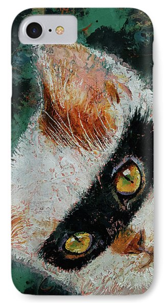 Cat Burglar IPhone Case by Michael Creese