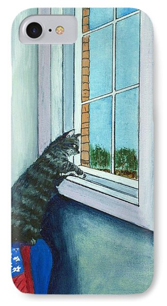 Cat By The Window Phone Case by Anastasiya Malakhova