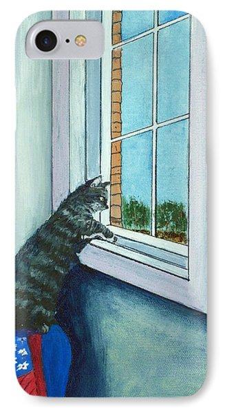 Cat By The Window IPhone Case by Anastasiya Malakhova