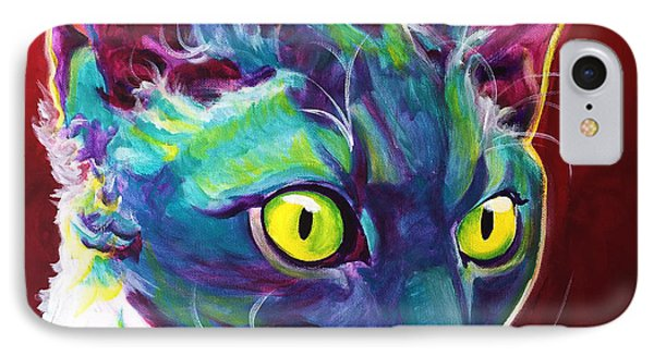 Cat - Devon Rex IPhone Case by Alicia VanNoy Call