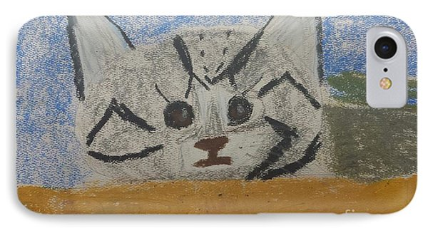 IPhone Case featuring the painting Cat by Epic Luis Art