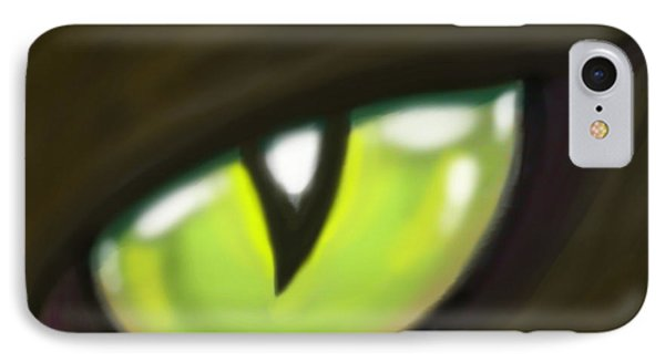 Cat Eye Phone Case by Kevin Middleton