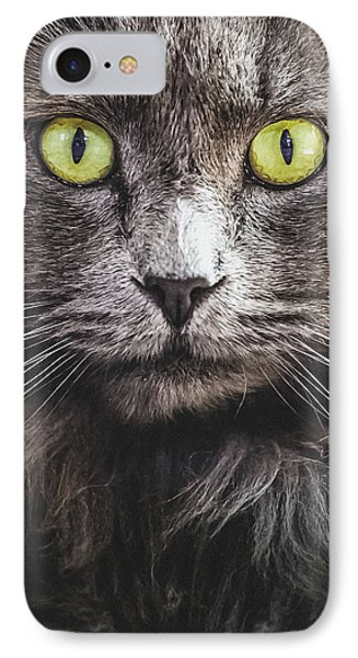 Cat Eyes IPhone Case by Debi Bishop