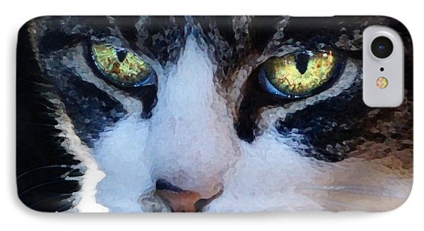 IPhone Case featuring the digital art Cat Eyes by Jana Russon