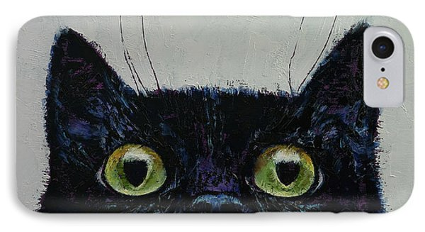 Cat Eyes IPhone Case by Michael Creese