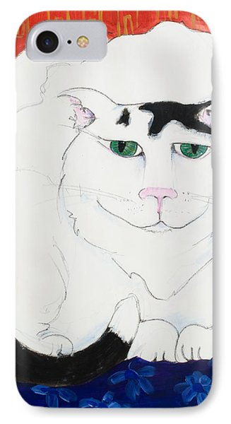 Cat II - Cat Dozing Off IPhone Case by Leela Payne