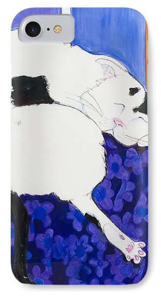 Cat IIi Peaceful   IPhone Case by Leela Payne