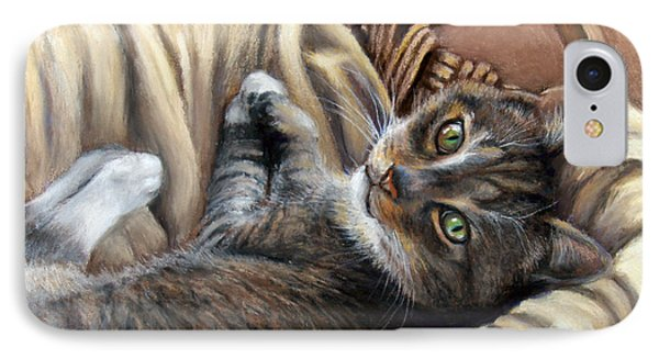 Cat In A Basket Phone Case by Susan Jenkins