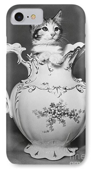 Cat In Pitcher Phone Case by Larry Keahey