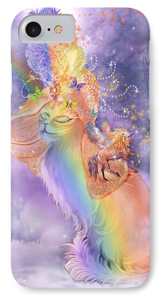 Cat In The Dreaming Hat Phone Case by Carol Cavalaris