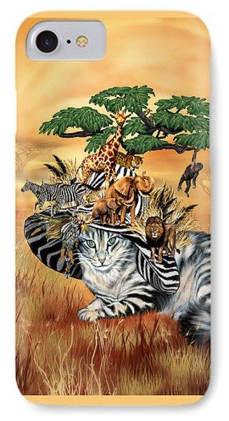 Cat In The Safari Hat IPhone Case