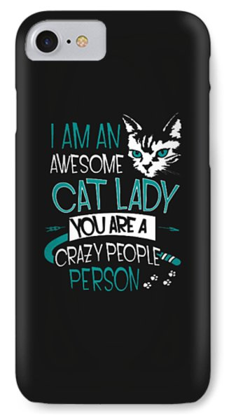 Cat Lady IPhone Case by Jackie Robinson