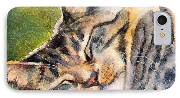 Cat Nap Phone Case by Bonnie Rinier
