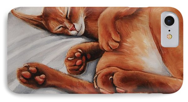 Cat Nap IPhone Case by Jean Cormier