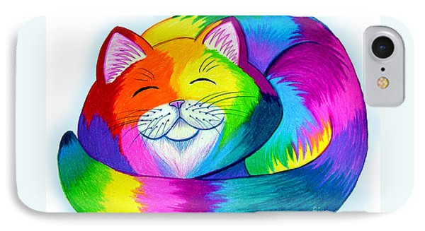 Cat Napping Phone Case by Nick Gustafson
