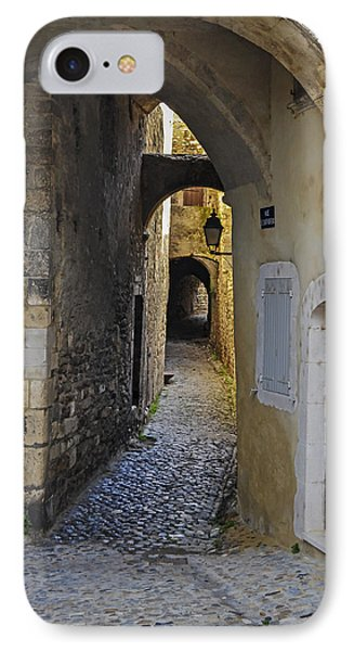 IPhone Case featuring the photograph Cat On A Quiet Street In Viviers by Allen Sheffield