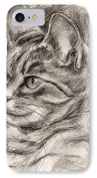 Cat Study Drawing No Three IPhone Case by Hiroko Sakai