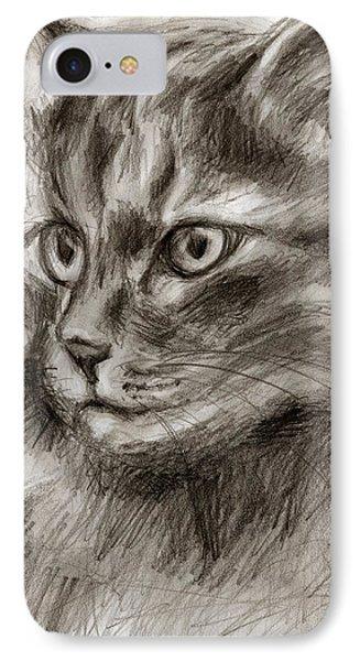 Cat Study Drawing No Two IPhone Case by Hiroko Sakai