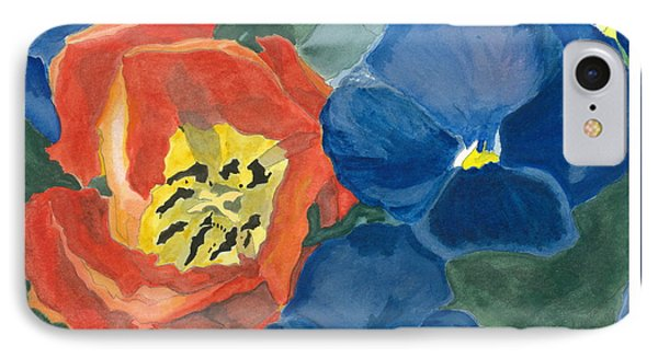 IPhone Case featuring the painting Cat Tulip by Joel Deutsch