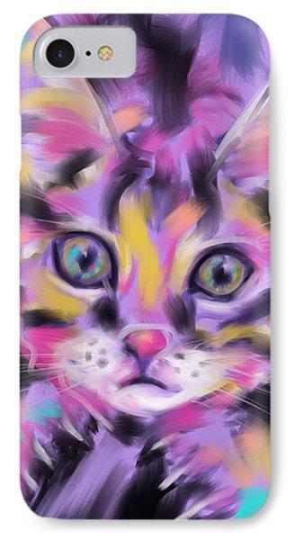 Cat Wild Thing IPhone Case by Go Van Kampen