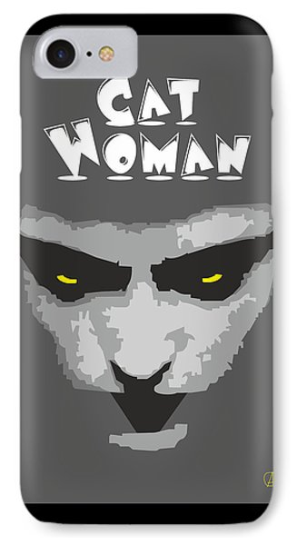 Cat Woman IPhone Case by Joaquin Abella