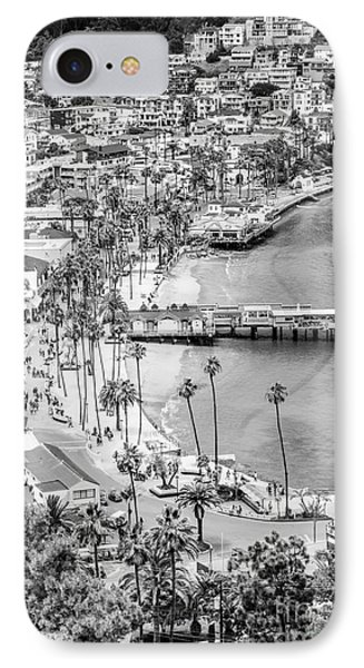 Catalina Island Aerial Black And White Photo IPhone Case by Paul Velgos