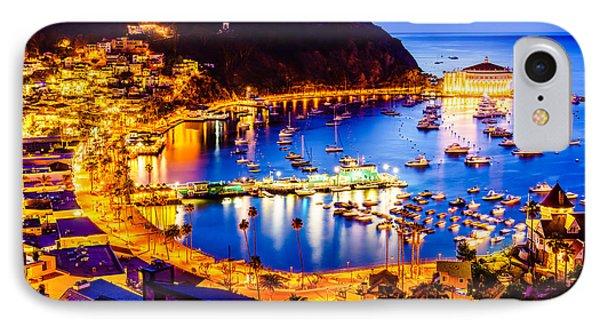 Catalina Island Avalon Bay At Night IPhone Case