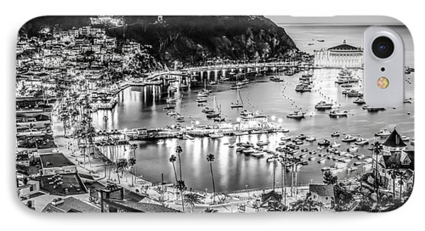 Catalina Island Avalon Bay Black And White Picture IPhone Case by Paul Velgos