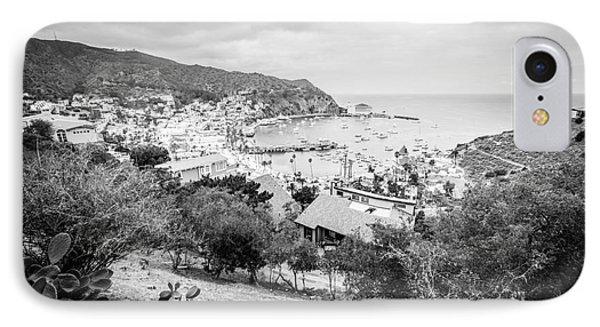 Catalina Island Avalon California Black And White Photo IPhone Case by Paul Velgos
