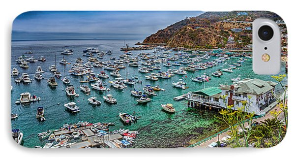 Catalina Island  Avalon Harbor IPhone Case by David Zanzinger