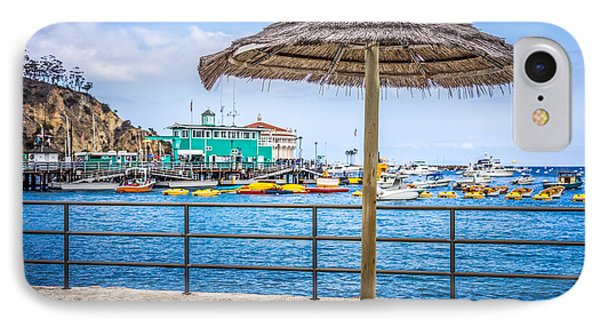 Catalina Island Straw Umbrella Picture IPhone Case by Paul Velgos