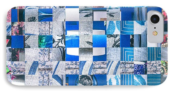 IPhone Case featuring the mixed media Catalogue Blues by Jan Bickerton