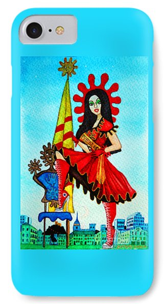 IPhone Case featuring the painting Catalan Girl In Converse by Don Pedro De Gracia