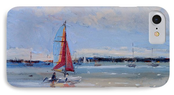 Catamaran  Brittany IPhone Case by Christopher Glanville
