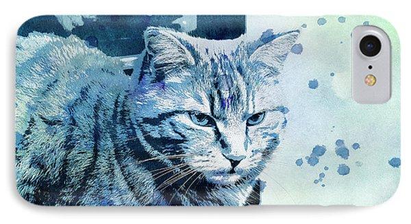 IPhone Case featuring the digital art Catbird Seat by Jutta Maria Pusl