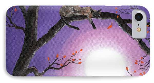 Catch A Falling Leaf IPhone Case by Laura Iverson