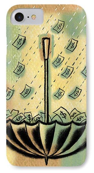 Catch The Cash IPhone Case by Leon Zernitsky