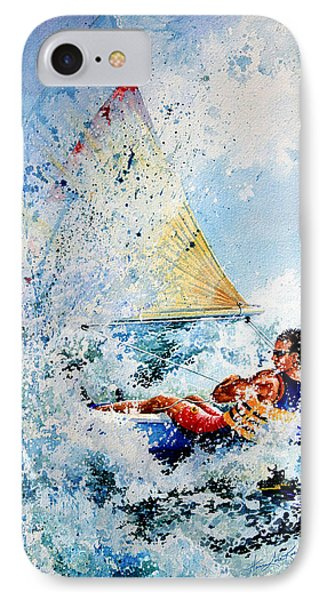 Catch The Wind IPhone Case by Hanne Lore Koehler