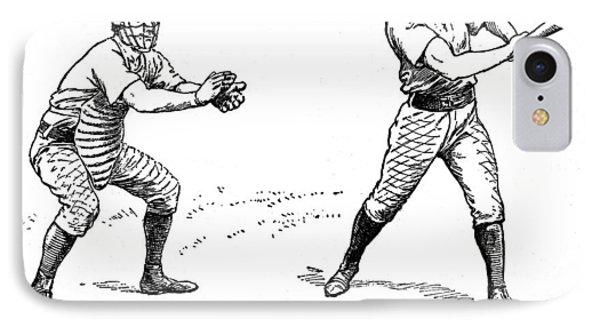 Catcher & Batter, 1889 Phone Case by Granger
